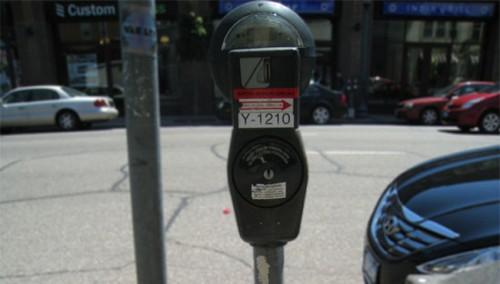 Parking meter in Uptown