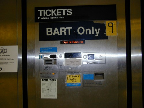 out-of-order Farecard machine