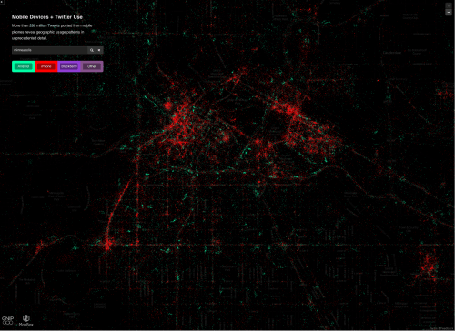 Twitter Use by Mobile Phone platform, for Twin Cities region