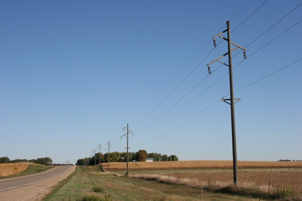 By Sunday morning the skies have cleared north of Lamberton, along Redwood County Road 6.