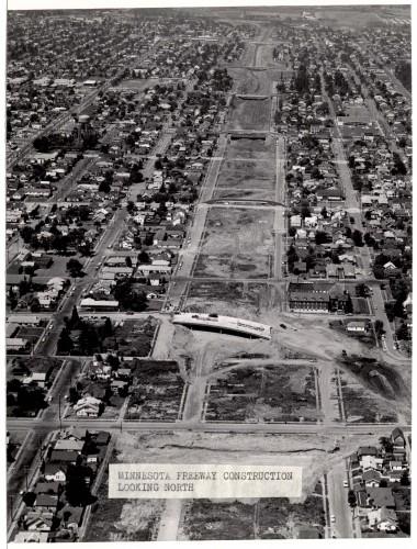 Minnesota Freeway Construction Looking North - 1963
