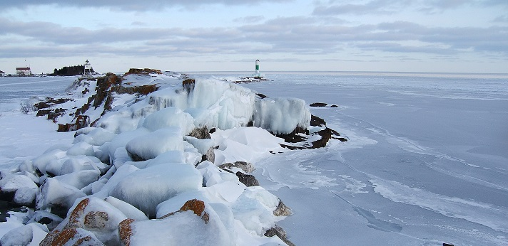 Grand Marais harbor mouth or Ice fortress of Jotunheim?