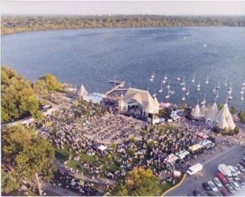 Lake Harriet aerial