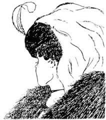 womans head illusion