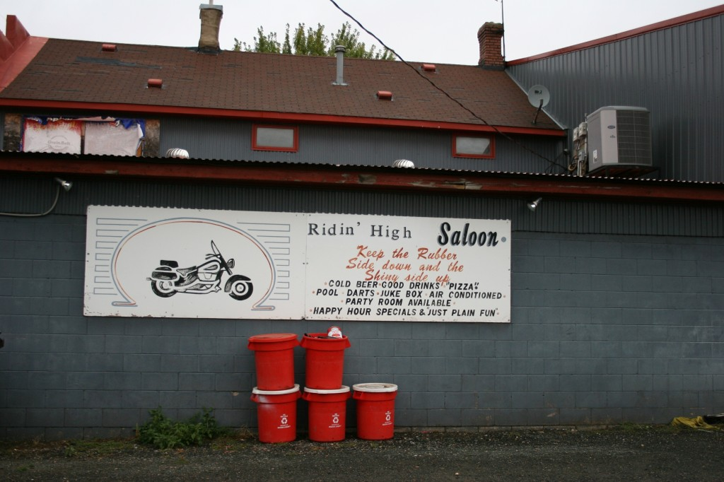 The Ridin' High Saloon in Cobden caters to bikers.
