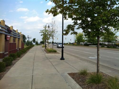 66th Street adjacent to Cedar Point Commons