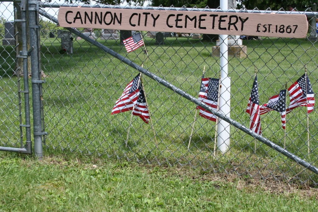 I always appreciate handcrafted signs like this one marking the Cannon City Cemetery.