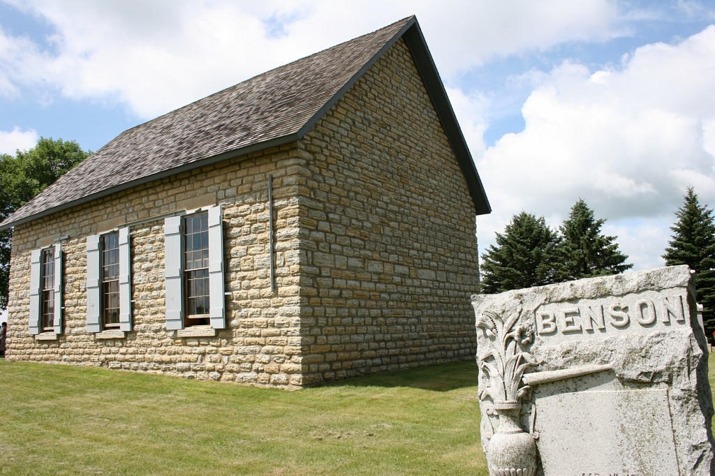 Stone against stone at Hauge Lutheran Church in the Monkey Valley near Kenyon.