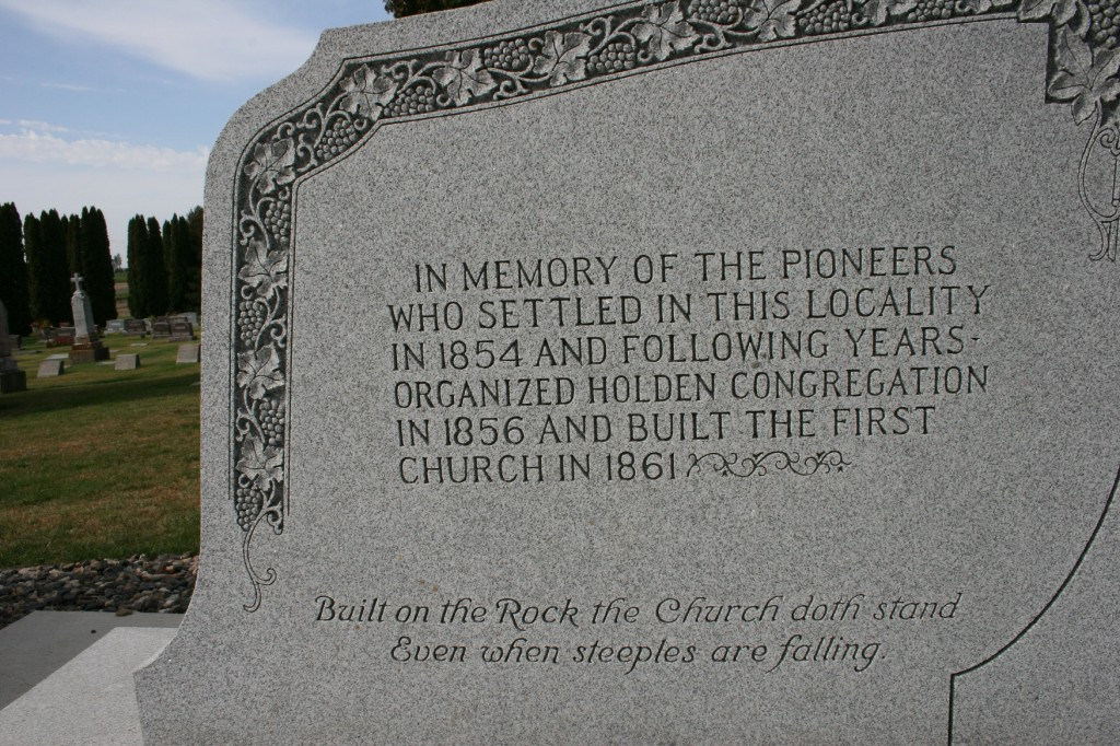 A bit of history in the Holden Lutheran Church Cemetery, rural Kenyon.