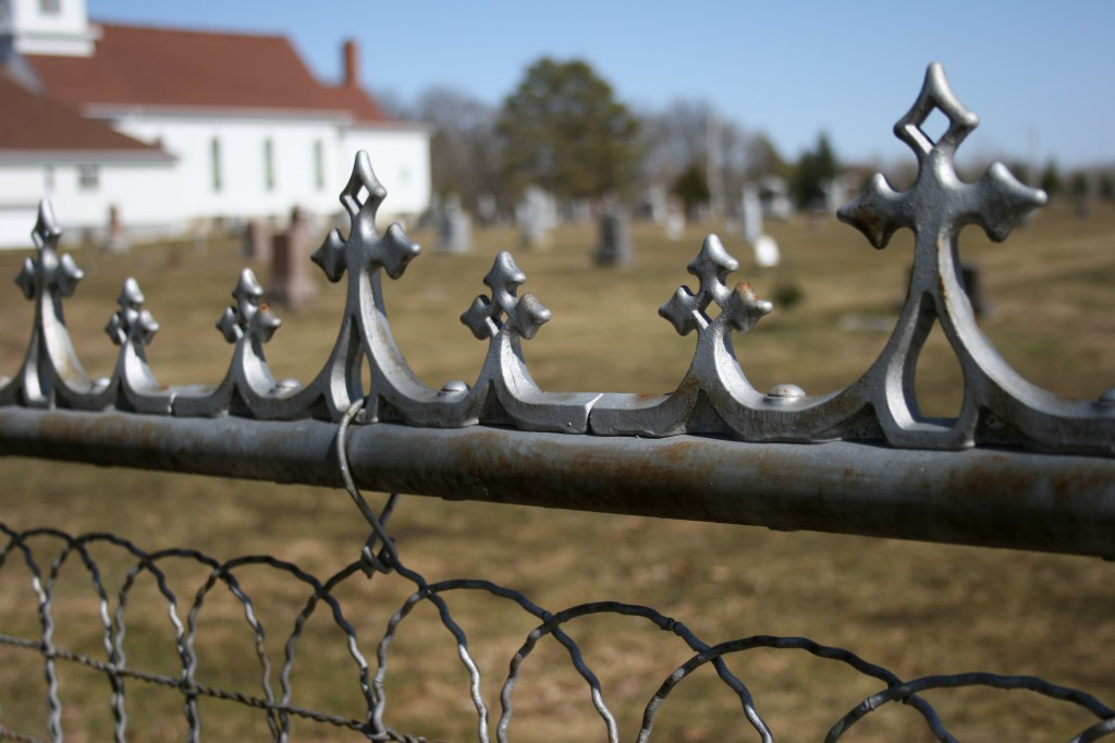 A snippet of the fence embracing the Urland Lutheran Church Cemetery in the Sogn Valley area.