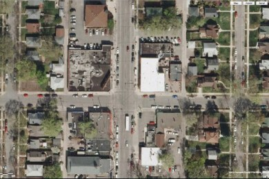 48th and Chicago before: a barren and unwelcoming landscape for pedestrians