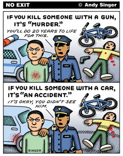 Killing with a Gun versus Killing with a Car