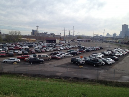 Impound lot from Van White