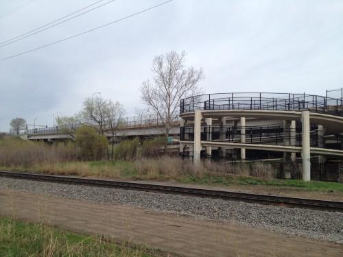 Penn Station spiral walkway