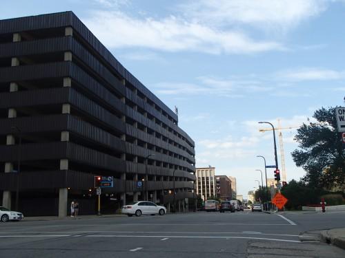 Two block long parking ramps along 5th Avenue South