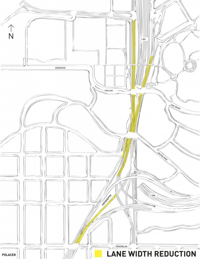 lane width reduction