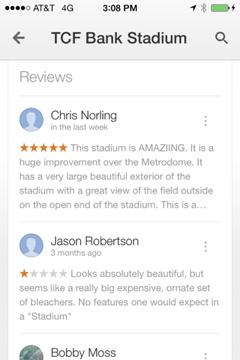 Reviews for TCF Bank Stadium