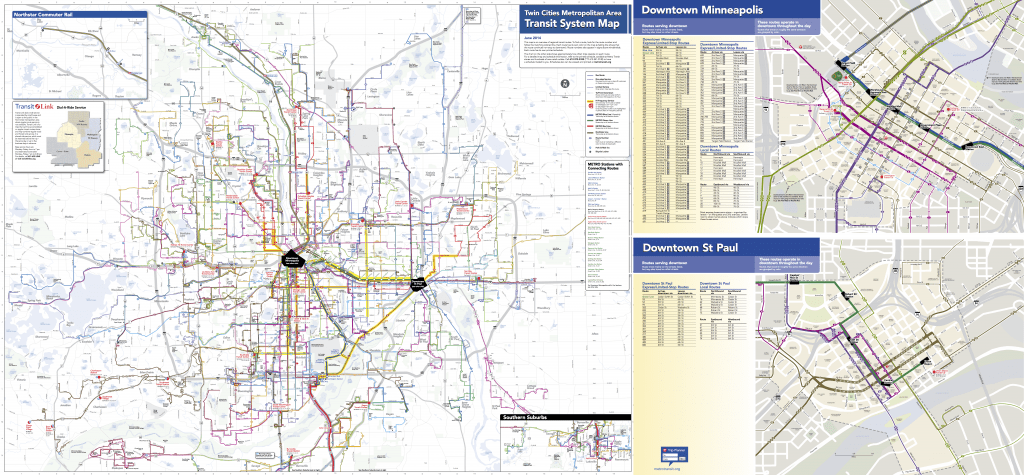 June 2014 System Map from Metro Transit (no longer available for download, but available on request).