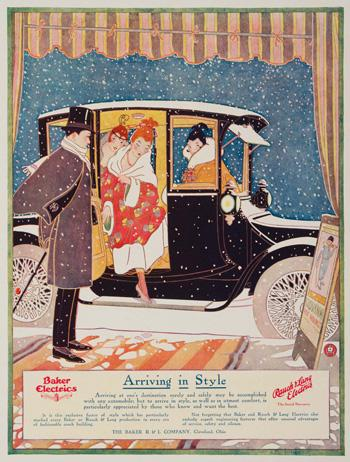 electric car ad 1904
