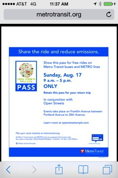 Transit Pass for Open Streets