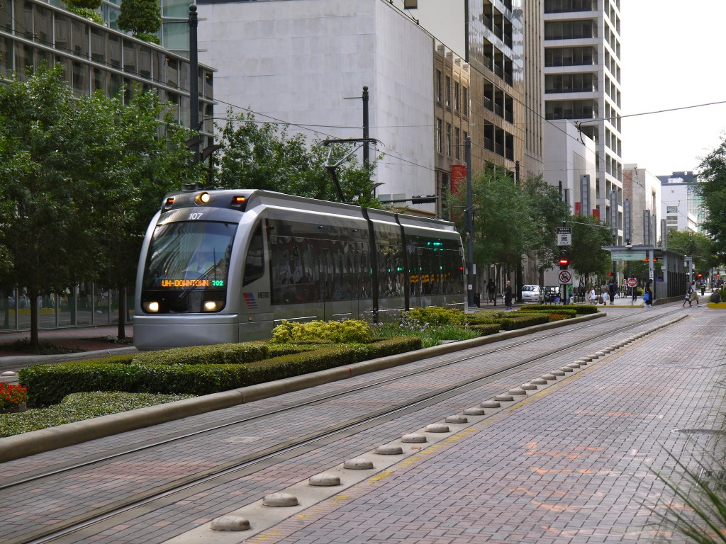 Houston Light Rail by Travis Estell on Flickr