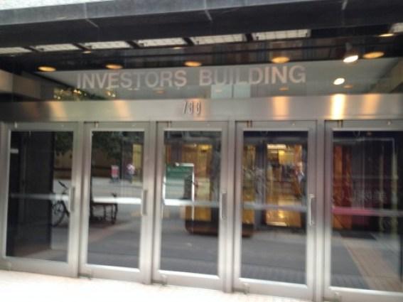 Investors Building Entrance