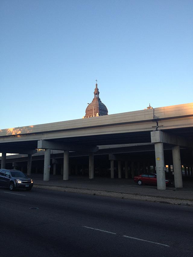 mpls basilica dome freeway