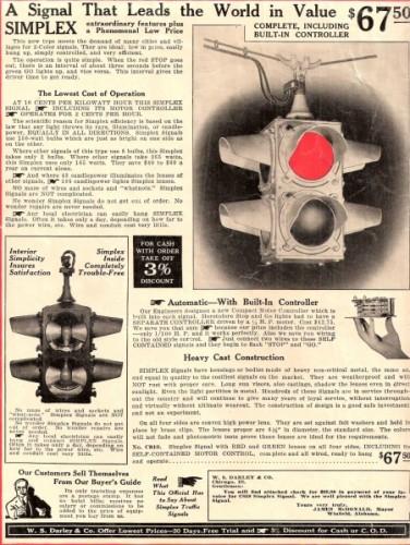Vintage Darley Traffic Signal ad.
