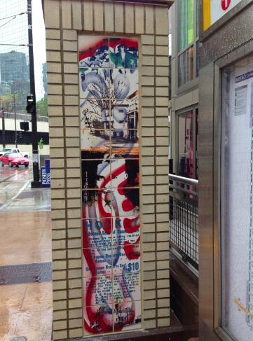 Hockey Art at the St. Paul Central LRT Station