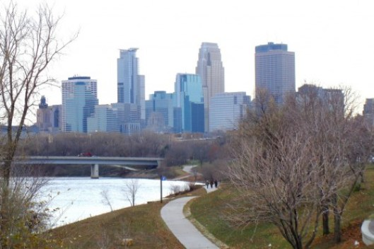 Minneapolis from Broadway by flickr user dwallick.