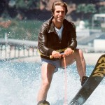 "Henry Winkler as Fonzie ""Jumps the Snark"" on a Cunningham family vacation to Hawaii in Happy Days."