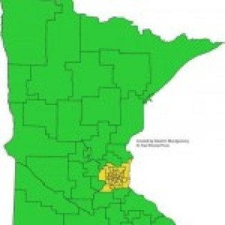 minnesota SD map