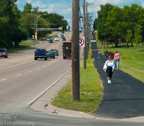 Every Ramsey County road with a path seems continuously filled with people.