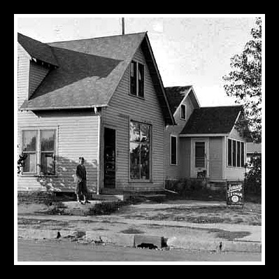 Gust J. Evelius home and grocery store, 3556 36th Ave S, Minneapolis, 1934.  Source: Minnesota Historical Society