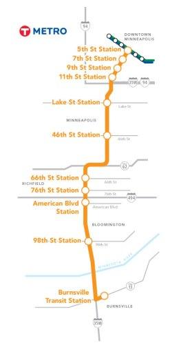 METRO Orange Line Route Map