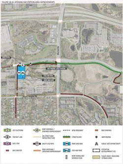 Park and ride plans for Mitchell Station