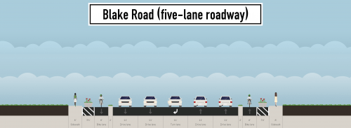 The five-lane option for Blake Road