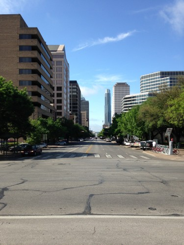 Looking down Congress Avenue from 11th Street