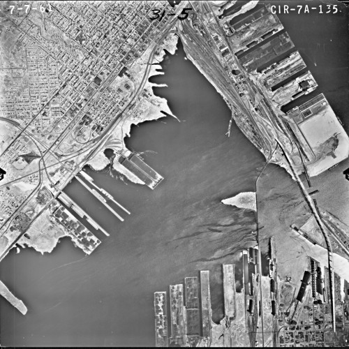Aerial photo of St. Louis Bay
