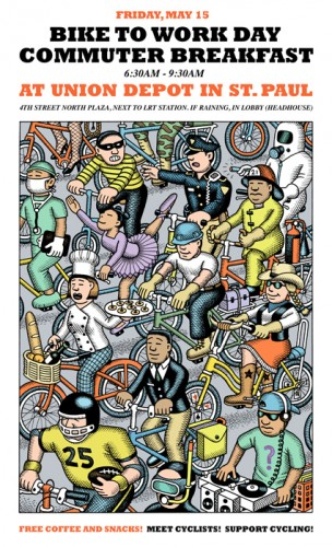 Saint Paul Bike to Work Week poster
