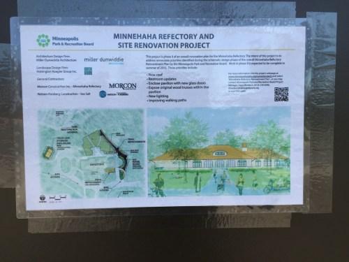 Webber Park natural swimming pool under construction sign