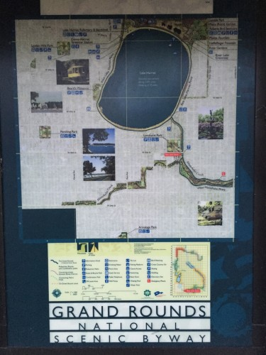 Map of the Lake Harriet section of Grand Rounds