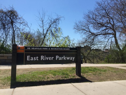 East River Parkway sign