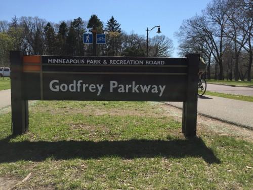 Godfrey Parkway sign