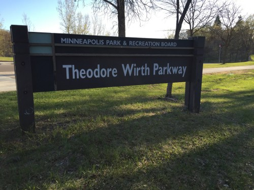 Theodore Wirth Parkway sign