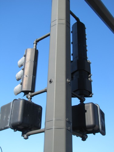 "Crouse-Hinds 8"" and 12"" vehicle signals and ICC pedestrian signals"