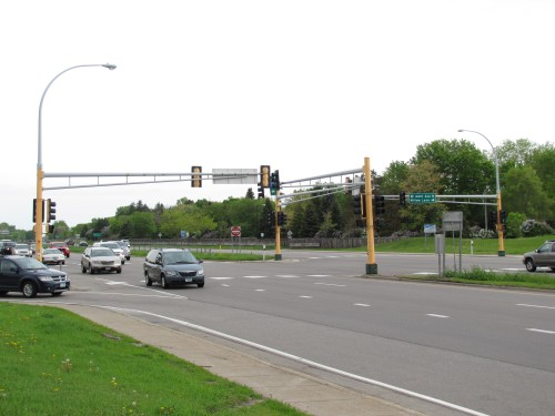 Minnesota's busiest intersection- MN 252 at 66th Ave N