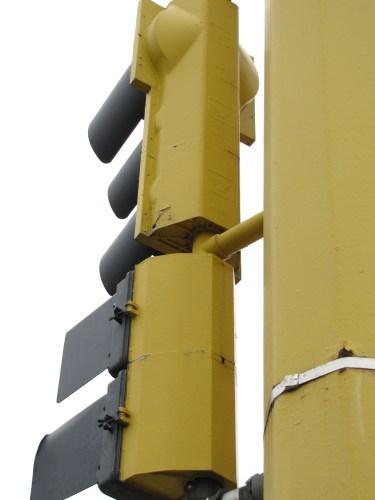 "Crouse-Hinds 9"" pedestrian signal"
