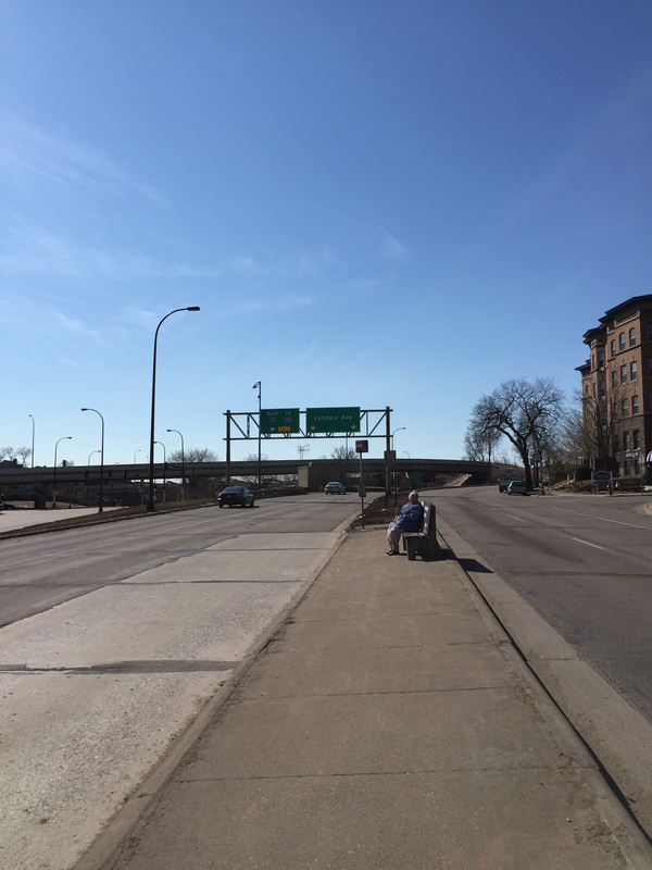 Bus stop at Hennepin and Lyndale Avenues