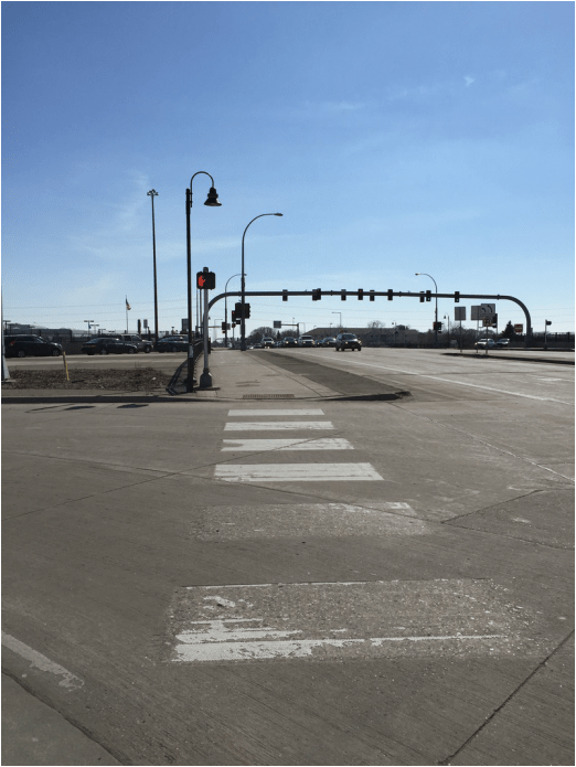 Crosswalk at Lyndale Avenue and I-494